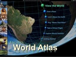 Microsoft Encarta World Atlas, nyitókép