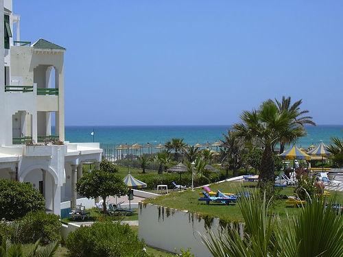 A szálloda strandja