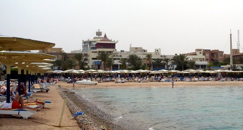 Sea Gull szálloda a tenger felől