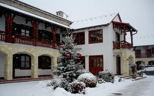 Az erdőbényei Magita Hotel épülete
