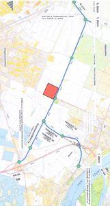 Térkép a csepeli gerincút tervezett vonaláról