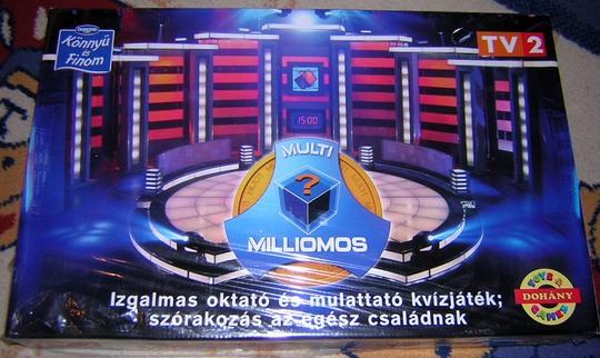 Multimilliomos, a játék dobozának borítója