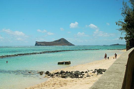 A partszakasz Hawaii-on, ahol a Magnum jeleneteit forgatták