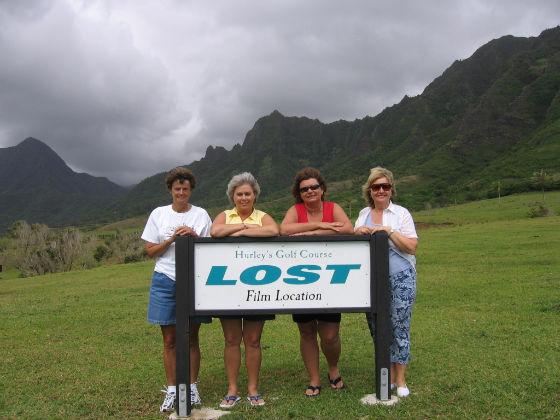 Rajongók a Lost egyik gyönyörű helyszínén Hawaii-on