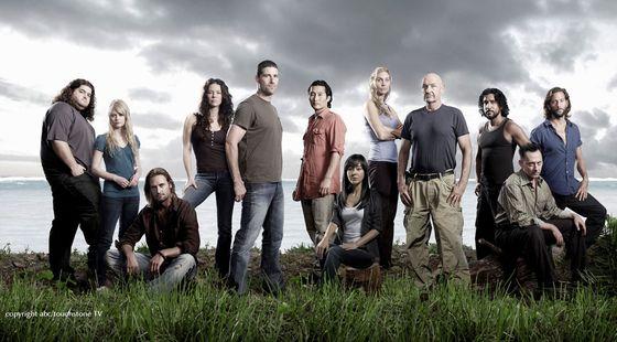 A  Lost ötödik évadának szereplőgárdája, stúdiófotó