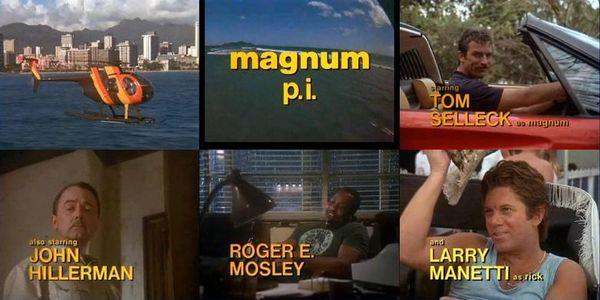 Képernyőképek a sorozat főcíméből a színészekkel