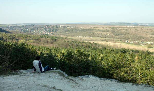Noémi kinéz a Nyakas-kő felől